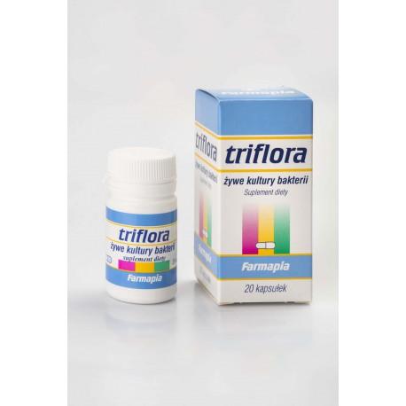 Triflora 20 kaps. - żywe kultury bakterii